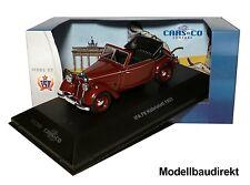 IFA f8 cabriolett BJ 1953 en burdeos 1:43 Ixo/es ccc068 Cars & co nuevo & OVP