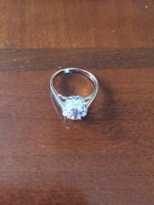 WOMENS 925 STERLING SILVER OVAL CUT PINK CZ RING SIZE 8 NWOT
