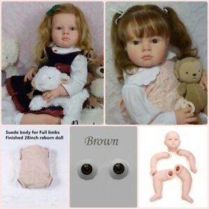 Reborn Toddler Doll Kits Unpainted Baby Doll Mold DIY Finished Size 28 inch 70cm