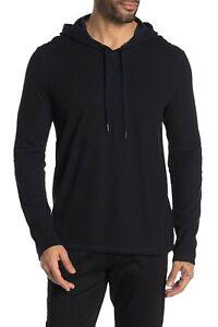 John Varvatos Star USA Men's Black Washington Double Knit Pullover Hoodie