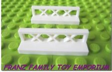 New LEGO Lot of 2 PANEL Fence/Shelf White Lattice 1x4x1 Castle Friend Brick Part