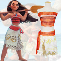 Moana Girls Fancy Dress Princess Hawaiian Book Day Kids Child Halloween Costume