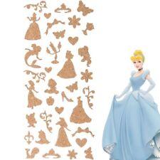 DISNEY PRINCESS STICKERS Wall Decal Cinderella Snow White Belle Ariel Aurora