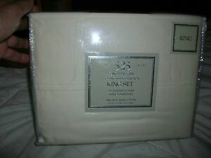 CLARKSVILLE COLLECTION Neutral 525 100% Egyptian Cotton 4-PC King Set BRAND NEW