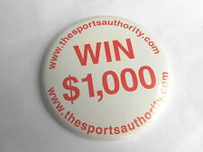 Cool Vintage The Sports Authority Sporting Store Win $1,000 Advertising Pinback