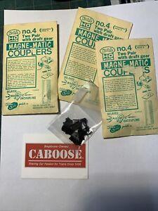 Sn3 HO Kadee Magne-matic No. 4 Couplers Three Packs (O-139)