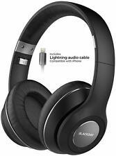 Bluetooth iPhone Headphones w Apple MFi Lightning Cable Wireless Earphones Gray