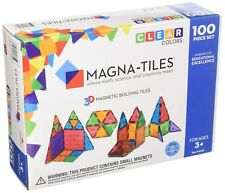 Magna-Tiles 100-Piece Clear Colors Set – The Original, Award-Winning Magnetic.