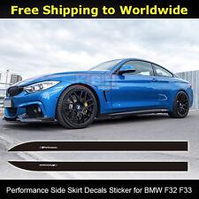 2pcs M Performance Side Skirt Sill Stripe Sticker for BMW 420i 428i 435i F32 F33