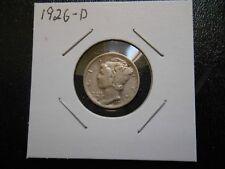 1926-D Mercury dime higher grade.