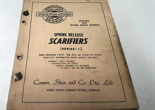 CONNOR SHEA SPRING RELEASE SCARIFIERS Series 1 Service  Manual & Parts List
