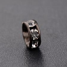 50pcs Silver Gold Black Crystal Rhinestone Gasket Spacer Bead DIY Bracelets Gift