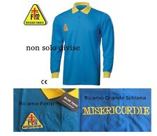Polo Manica Lunga Ricamata MISERICORDIE Misericordia BlueTech Art.MIS28