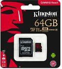 Kingston Micro SD Card 8GB 16GB 32GB 64GB 128GB w/ Adapter Memory OEM All Sizes