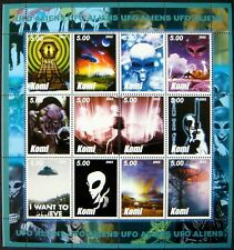 Science Fiction Stamps Space Aliens Imitation Sci-Fi Sheet Flying Saucer Ufo