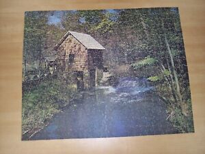 J.K. Straus Wood Jigsaw Puzzle Vintage RUSTIC MILL #226 FAO Schwarz 1950s
