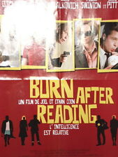 Affiche de Cinéma Poster Burn after Reading George Clooney Brad Pitt