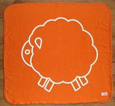 Giggle Baby Orange Lamb Sheep Receiving Blanket Gray White Stripe