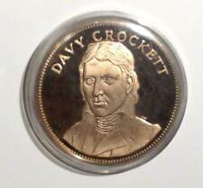 Davy Crocket, Gallery Of Great Americans,  Franklin Mints Proof Bronze Medal