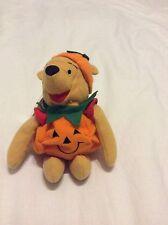 New Disney Store Halloween Pumpkin Costume Winnie the Pooh Bean Bag-Beanie