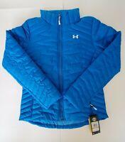 Under Armour Coldgear Storm Reactor Blue Magzip Puffer Jacket Women's Size Small