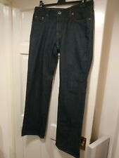 Mens HUGO BOSS Orange 31 Pure Jeans W34 / L32 Indigo Blue Regular Fit EXCELLENT
