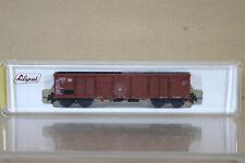 Liliput 244 DB MARRONE Güterwagen APERTO minerale BOGIE VAGONE 002-4 COME NUOVO