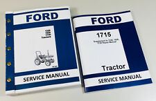 FORD 1715 TRACTOR SERVICE REPAIR MANUAL COMPLETE FACTORY TECHNICAL OVERHAUL SET