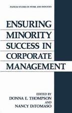 Springer Studies in Work and Industry: Ensuring Minority Success in Corporate...