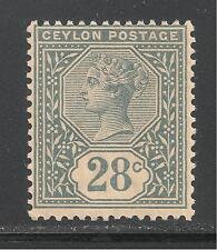Ceylon #139 (A24) FVF MINT VLH OG - 1886-1900 28c Queen Victoria