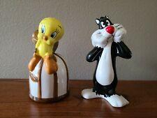 Tweety Bird & Sylvester Salt and Pepper Shaker Set 1993 Warner Brothers