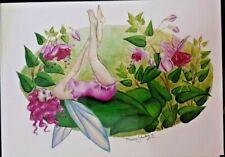 Nedda Shishegar Fuchsia Faerie Fairy Collectible Postcard Art Print *Mint
