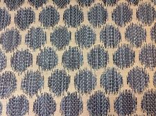 Jane Churchill Ikat Dots Circle Upholstery Fabric- Patino/Navy 5.25 yd #J773F-07