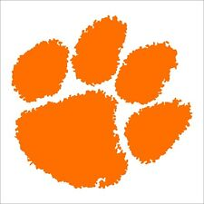 Clemson Tigers Paw Decals Orange Pink White Many Sizes Free Shipping