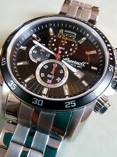 BRAND NEW EX DISPLAY INGERSOLL HARTFORD CHRONOGRAPH MENS INQ019BKSL STAINLESS