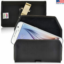 Turtleback Samsung Galaxy S6 Leather Pouch Holster Metal Clip Fits Spigen Case
