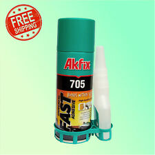 Akfix 705 Super Glue Accelerator Fast Cyanoacrylate Bond Adhesive 50gr + 200ml