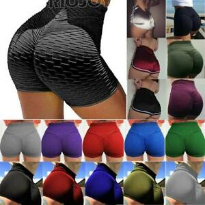 Women's High Waisted Workout Gym Booty Yoga Shorts Sports Ruched Butt Lift Pants