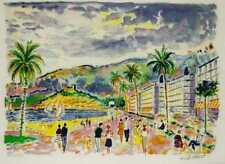 """Jean Claude Picot """"Avril a Cannes"""" 6 3/4"""" x 10 1/2"""" UNFRAMED with COA"""