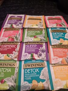 Twinings Tea Bags Superblends  Mixed Selections New Vegan Herbal Fruity Natural
