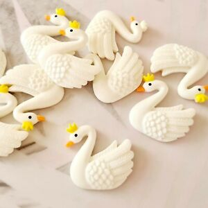 Pack of 10 Resin Swan Queen Flatbacks, Resins Bow Making, Embellishments