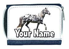 APPALOOSA HORSE PERSONALISED DENIM PURSE - GREAT LADIES/GIRLS NAMED GIFT PRESENT