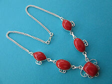 925 Sterling Silver Pendant With Natural Pilller Box Red Coral Jewellery(nk1444)