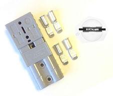 Paire Anderson SB50A 600 V Plug Large Cable gamme Terminal Connecteur Alimentation-Gris