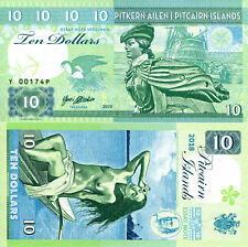 PITCAIRN ISLANDS 10 Dollars Fun-Fantasy Note Private Issue Currency 2018 Ship