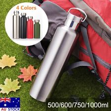 Stainless Steel Double Walled Vacuum Insulated Water Bottle 500/600/750/1000ml