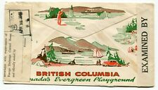Canada BC Vancouver 1942 FECB / Censor - Advert Cover to Mentalphysics Inst  USA