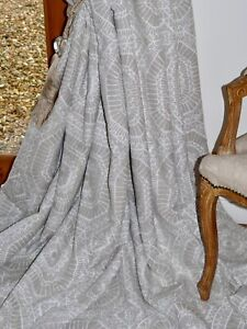 """HARLEQUIN Macrame CURTAINS Interlined LINEN Grey White Ea 100""""W 93""""D NEW UNUSED"""