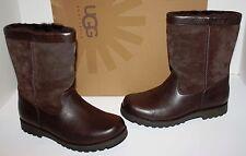 NIB Girls UGG Australia Riverton Brown Leather Boots Size 4
