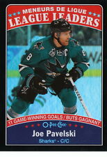 16/17 O-Pee-Chee Black Rainbow League Leaders Joe Pavelski #652 Sharks 91/100